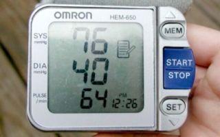 Гипотония – давление 80/40