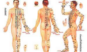 Расположение акупунктурных точек на теле для снижения давления