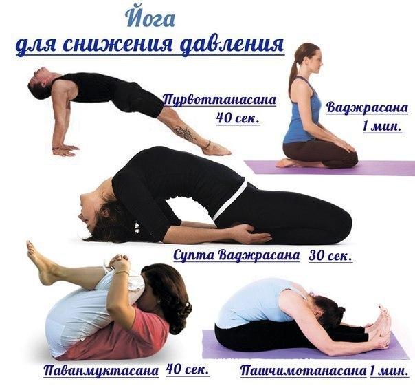 Йога для снижения давления