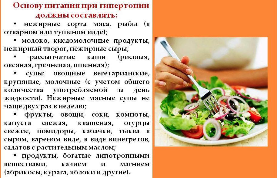 Питание при гипертонии
