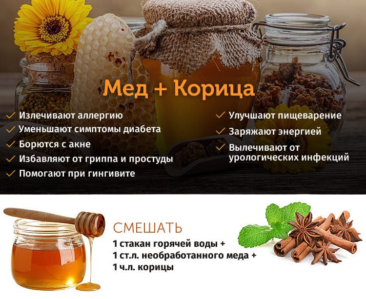 Мед и корица от всех болезней