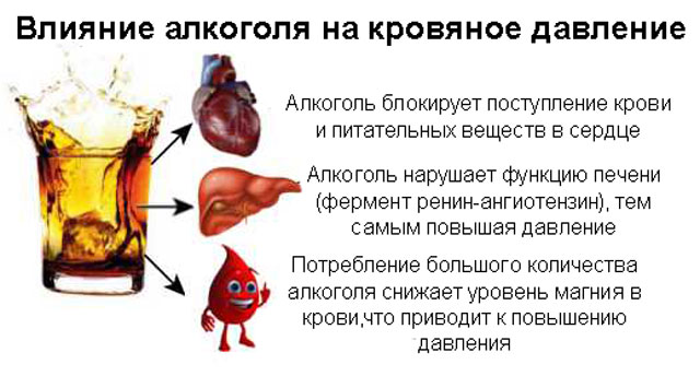 Влияние водки на АД